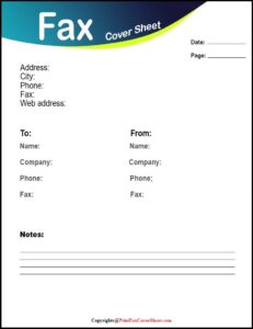 What Does a Fax Cover Sheet Look Like