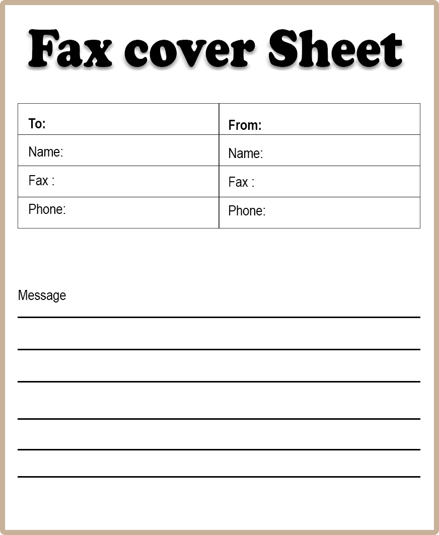 Free Printable Blank Fax Cover Sheet Template Pdf Fax Cover Sheet Template