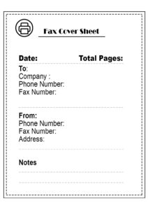 Printable Professional Fax Cover Sheet pdf