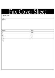 Sample Professional Fax Cover Sheet pdf