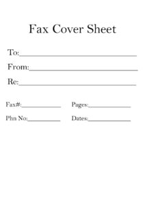 Basic Fax Cover Letter Template pdf