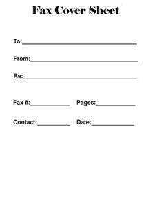 Basic Fax Cover Sheet PDF pdf