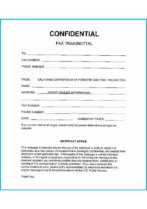 Confidential Fax Cover Letter Template pdf