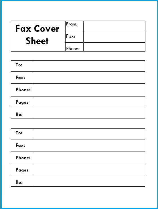 Confidential Fax Cover Sheet Letter