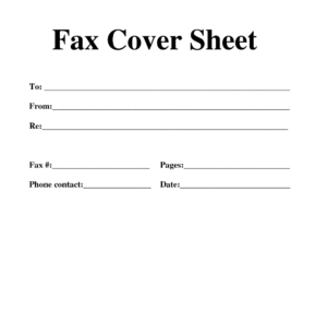 Free Basic Fax Cover Sheet