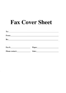 Free Basic Fax Cover Sheet pdf