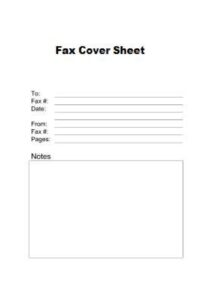 Printable Basic Fax Cover Sheet Sample Template pdf