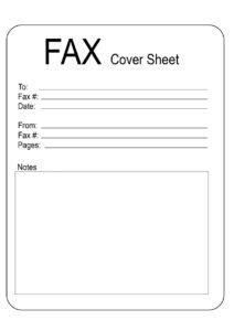 Fax Cover Sheet Template PDF pdf